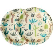 8 Assiettes Cactus Collection