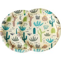 Contient : 1 x 8 Assiettes Cactus Collection