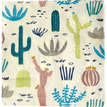 20 Petites Serviettes Cactus Collection