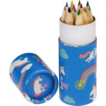 12 crayons de Couleur Licorne (8,5 cm)