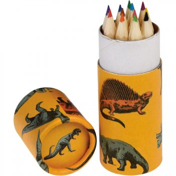12 crayons de Couleur Dinosaure (8,5 cm)