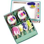 24 Caissettes et Déco Cupcakes Monstres Rigolos