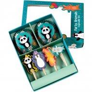 24 Caissettes et Déco Cupcakes Panda Party
