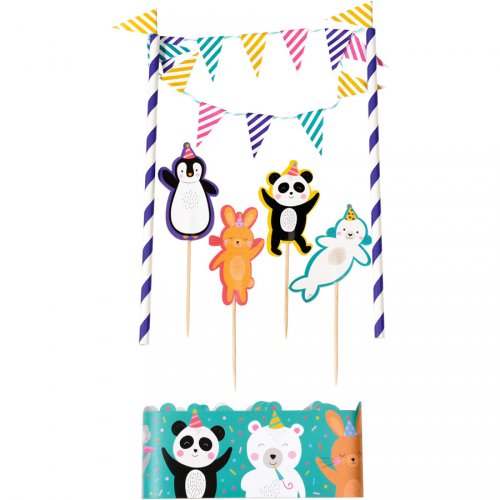 Kit Décoration de Gâteau Panda Party