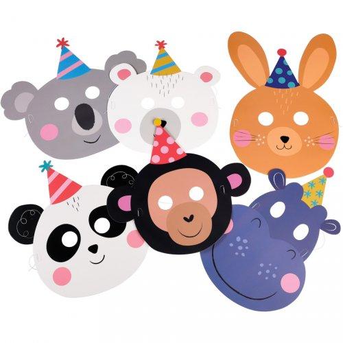 6 Masques Panda Party