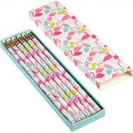 Boîte de 6 crayons Flamant Rose Party