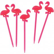 12 Pics Flamant Rose Party (8 cm)