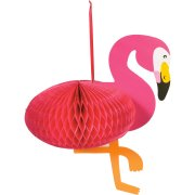 Grande Suspension Flamant Rose 3D (37 cm)