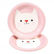 8 Petites Assiettes Cookie le chat