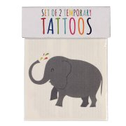 2 Tatouages Elephant et Baleine