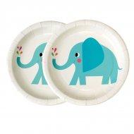 8 Petites Assiettes Elvis l'Eléphant