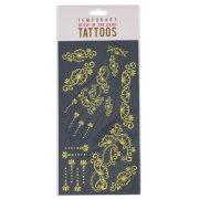 18 Tatouages Bijoux Fleurs Phosphorescent
