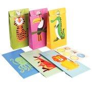 6 Pochettes Cadeaux Animaux Colorama