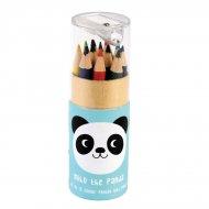 12 Crayons de Couleurs + Taille Crayon Miko le Panda