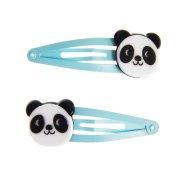 2 Barrettes Miko Le Panda