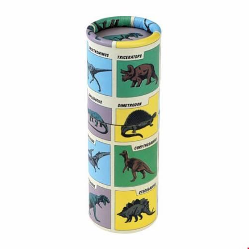 12 Crayons de Couleur - Dinosaure (8,5 cm)