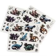 3 Planches de Stickers Dino Vintage