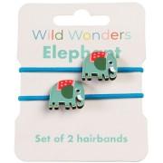 2 Elastiques Cheveux Elephant
