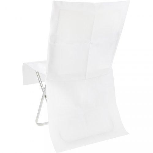 4 Housses de chaise opaque Blanc