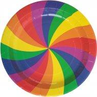 10 Assiettes Rainbow Twist