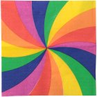 20 Serviettes Rainbow Twist