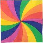 20 Serviettes Rainbow Twist