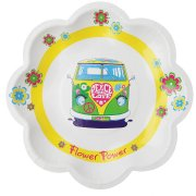 10 Assiettes Hippie Flower