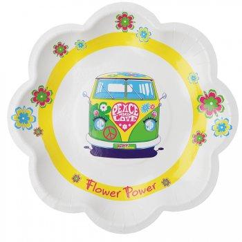 10 Assiettes Hippie Flower