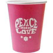 10 Gobelets Hippie Rose Fuchsia
