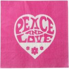 20 Serviettes Hippie Rose Fuchsia