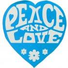 50 Stickers hippie Turquoise