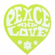 50 Stickers hippie Vert