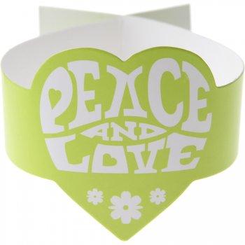 6 Ronds de serviettes Hippie Vert