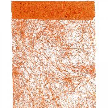 Chemin de table Abaca Orange