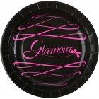 10 Assiettes Glamour Noir