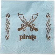 20 Serviettes Pirate Ciel