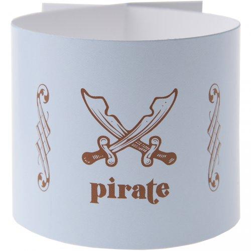 6 Ronds de serviettes Pirate Ciel