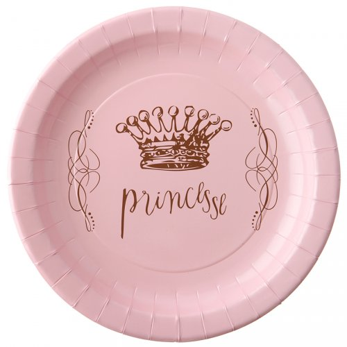 6 Assiettes Princesse Rose