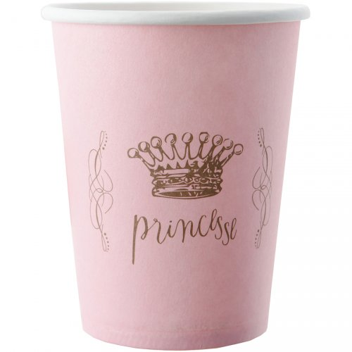 6 Gobelets Princesse Rose