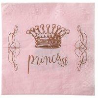 Contient : 1 x 20 Serviettes Princesse Rose