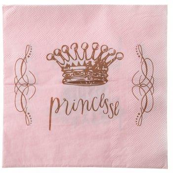 20 Serviettes Princesse Rose