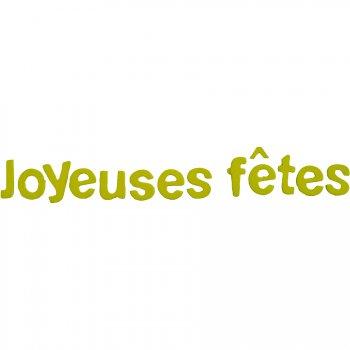 """Lettres """"Joyeuses Fêtes"""" Vert"""