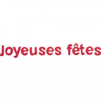 """Lettres """"Joyeuses Fêtes"""" rose Fuchsia"""
