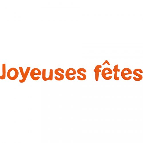 "Lettres ""Joyeuses Fêtes"" Orange"