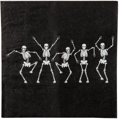 20 Serviettes Danse des Squelettes