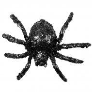 6 Araignées Paillettes Noires