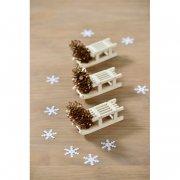 4 Mini Luges en bois