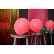 8 Ballons Joyeuses F�tes Rouge