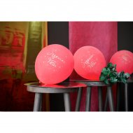 8 Ballons Joyeuses Fêtes Rouge