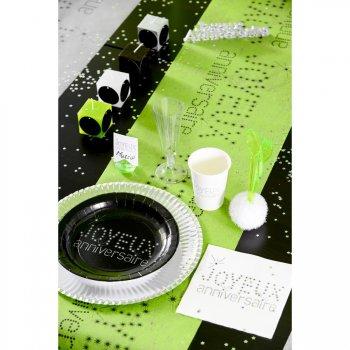 Chemin de Table Joyeux Anniversaire Vert